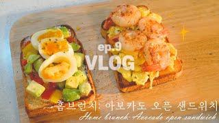 SUB)EP.9[VLOG] 초초초간단 아보카도 오픈 샌…