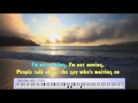 THE SCRIPT - THE MAN THAT CAN'T BE MOVED  ( SING-ALONG & PIANO KARAOKE )