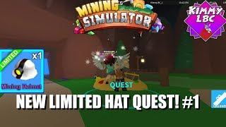 Roblox | Mining Simulator NEW LIMITED QUEST HAT #1