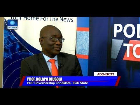 Ekiti Guber Race: Prof Kolapo Presents Hid SHIELD 'Agenda' |Politics Today|