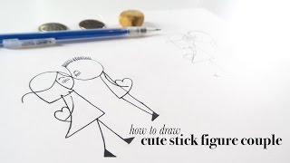 How to Draw a Cute Stick Figure Couple for Valentine