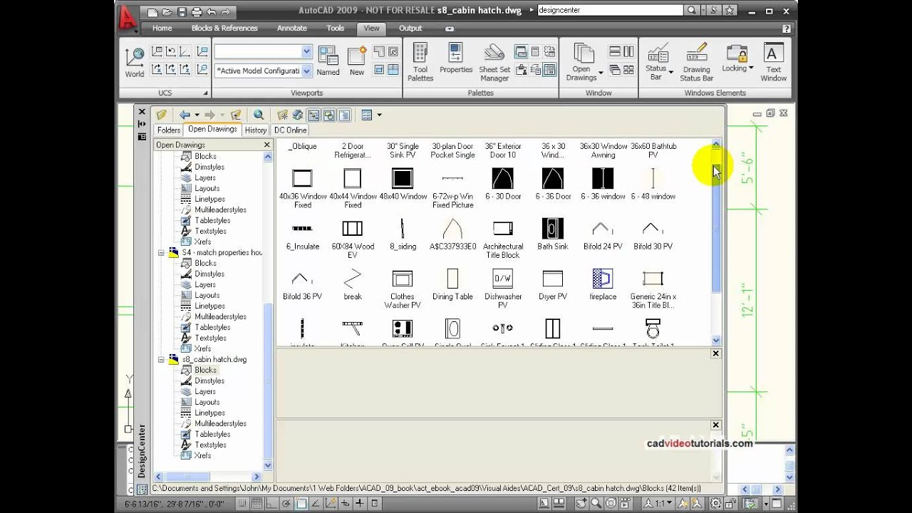 Autocad Tutorial Understanding Blocks And Symbols Youtube
