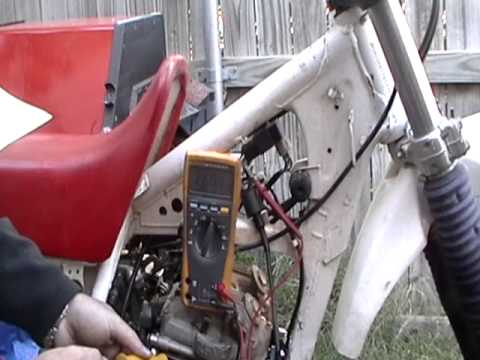 xr250 electrical problems (turns out to be a bad CDI box) - YouTube