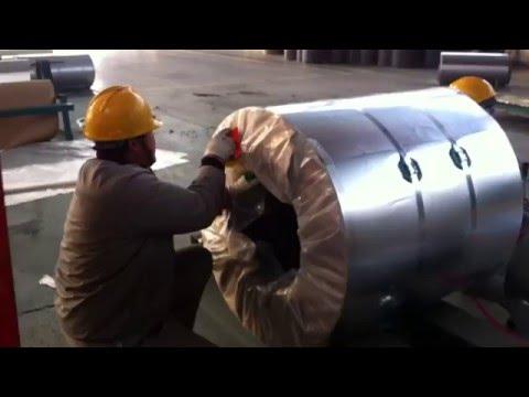Упаковка рулона стали PPGI. Завод Fuhai J.X.Y. Group_часть5