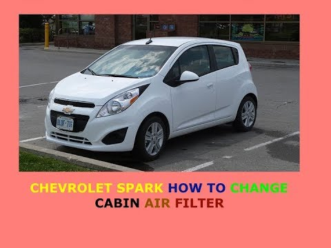 Chevrolet Spark How To Change Cabin Air Filter Youtube