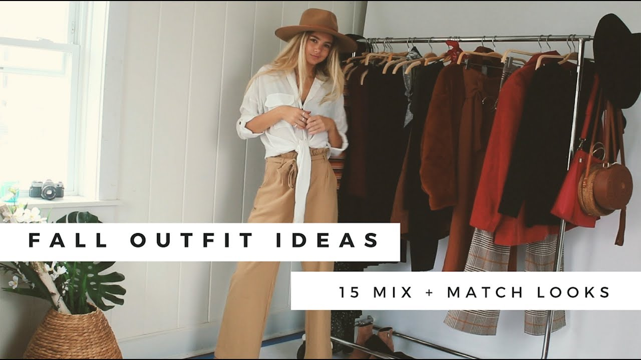 Fall Outfit Ideas || 15 Mix + Match Looks