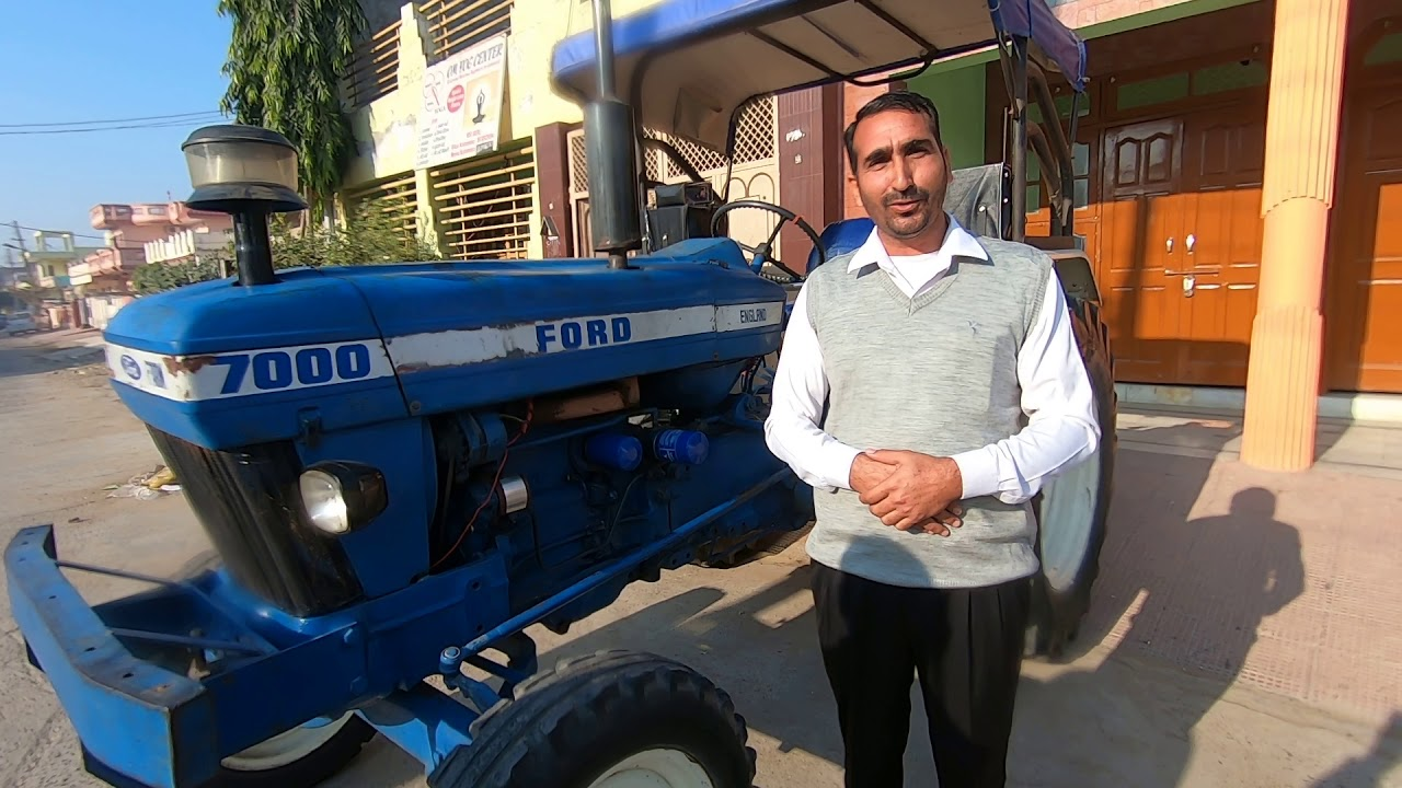 Ford 7000 Tractor Owner Review By Siwach Dairy Farm Hisar Youtube