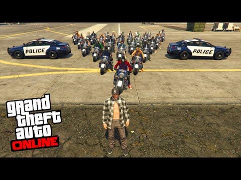 CHASSE A L'HOMME EN MOTO DE POLICE GTA 5 ONLINE
