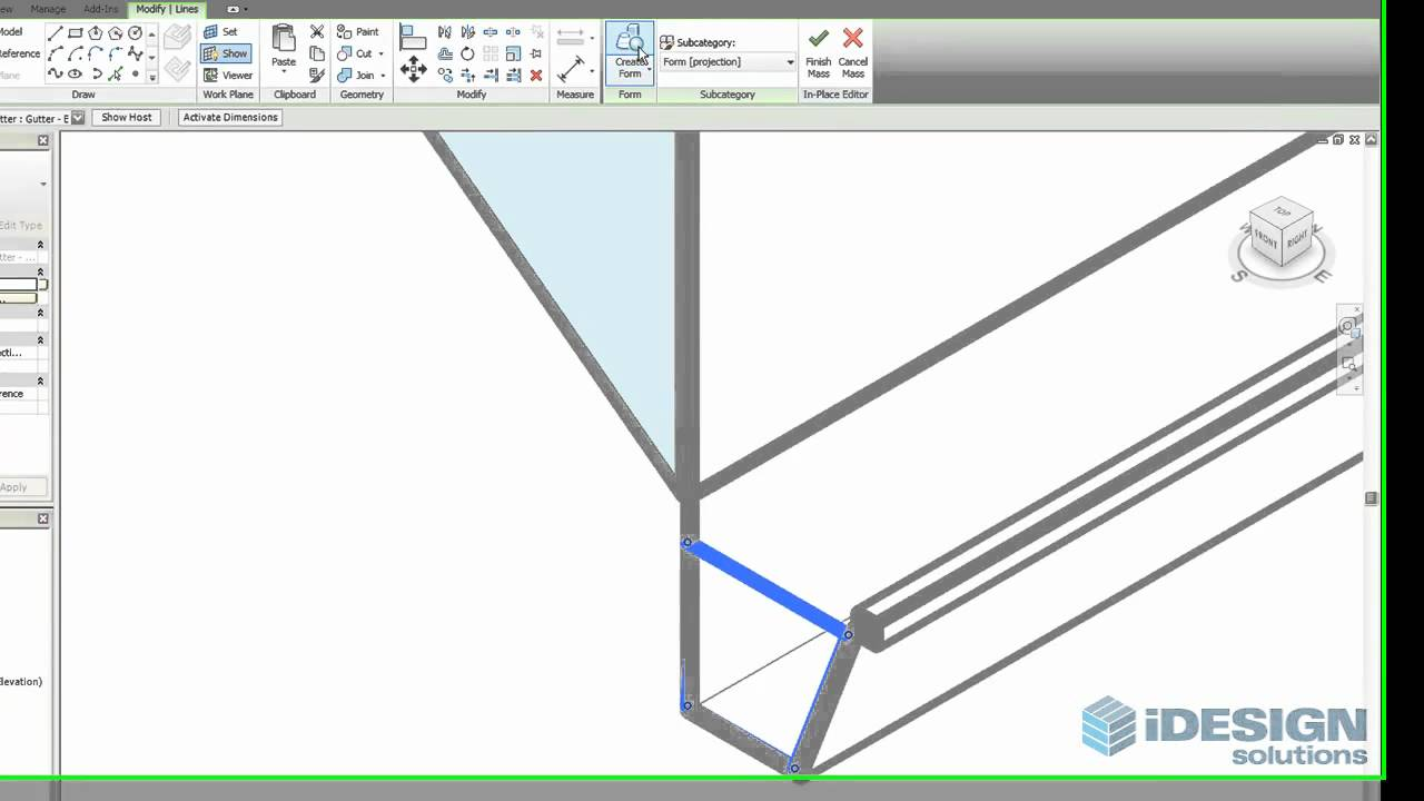 Gutter End Caps In Revit Architecture Youtube