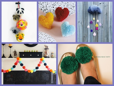 Pom Pom Crafts Ideas - DIY Pompoms Projects Inspiration