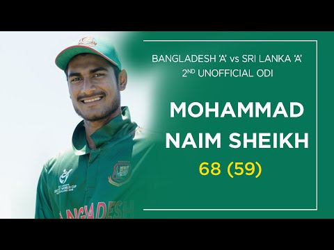 Bangladesh Opening Bastamn Mohammad Naim's Half-century Against Sri Lanka 'A'