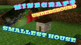 How To Make The Smallest House Includes Underground Base