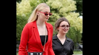 Sophie Turner and Maisie Williams at Kit Harington and Rose Leslie's Wedding