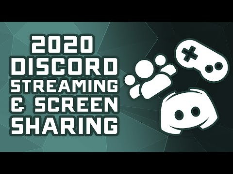 How To Stream & Screenshare On Discord - Updated 2020 Tutorial