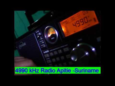 4990 kHz Radio Apintie , Paramaribo , Suriname