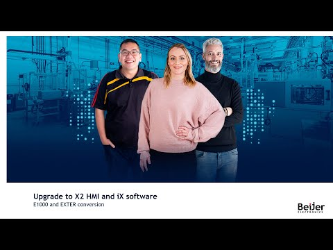 Converting an EXTER/E1000 HMI application to iX