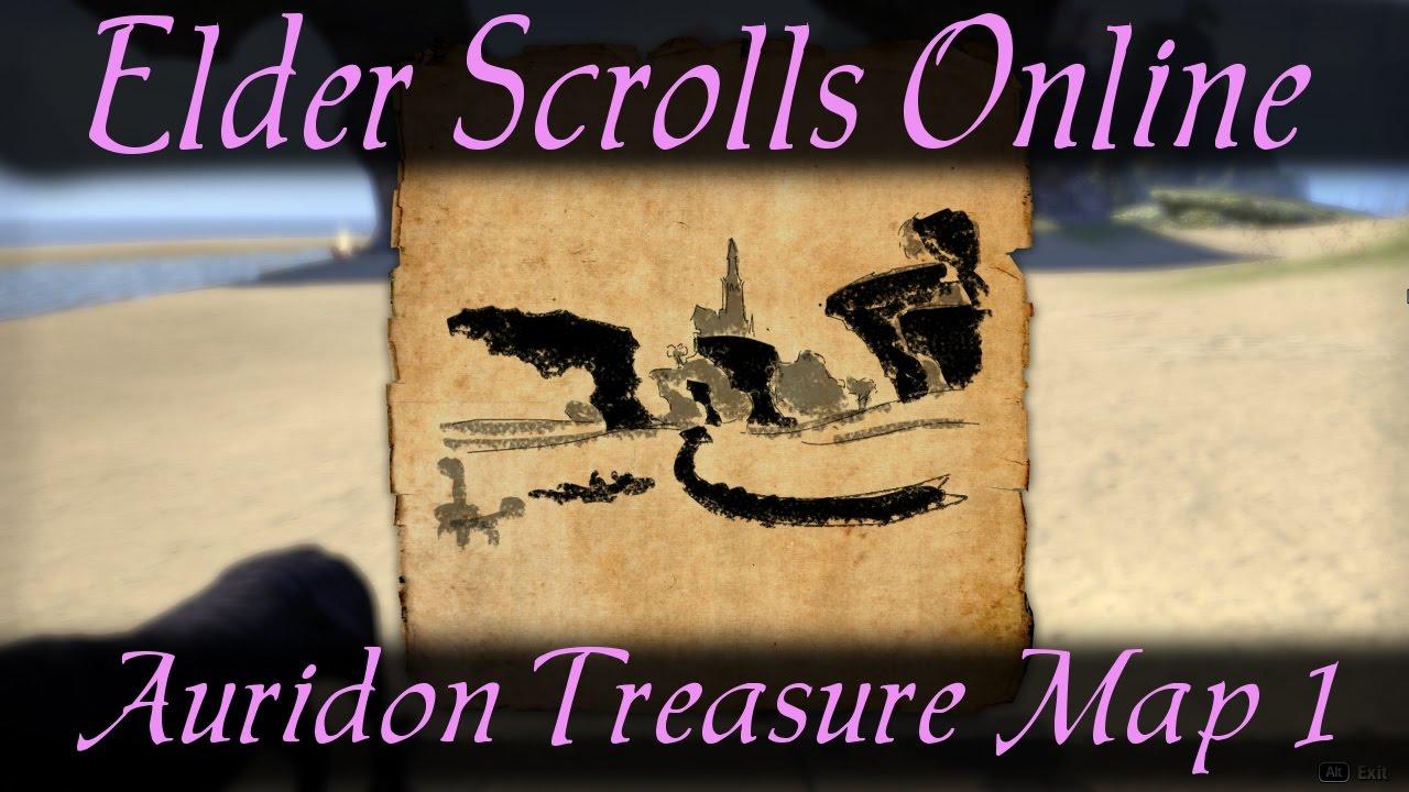 Auridon Treasure Map 1 [Elder Scrolls Online ESO] - YouTube