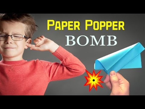 How to make Origami Bomb:Paper Popper