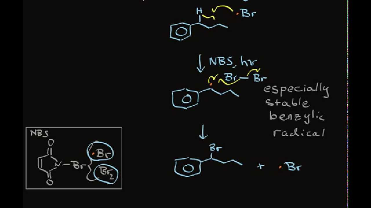 Nbs Benzylic Bromination Of Alkylbenzene Compounds Youtube
