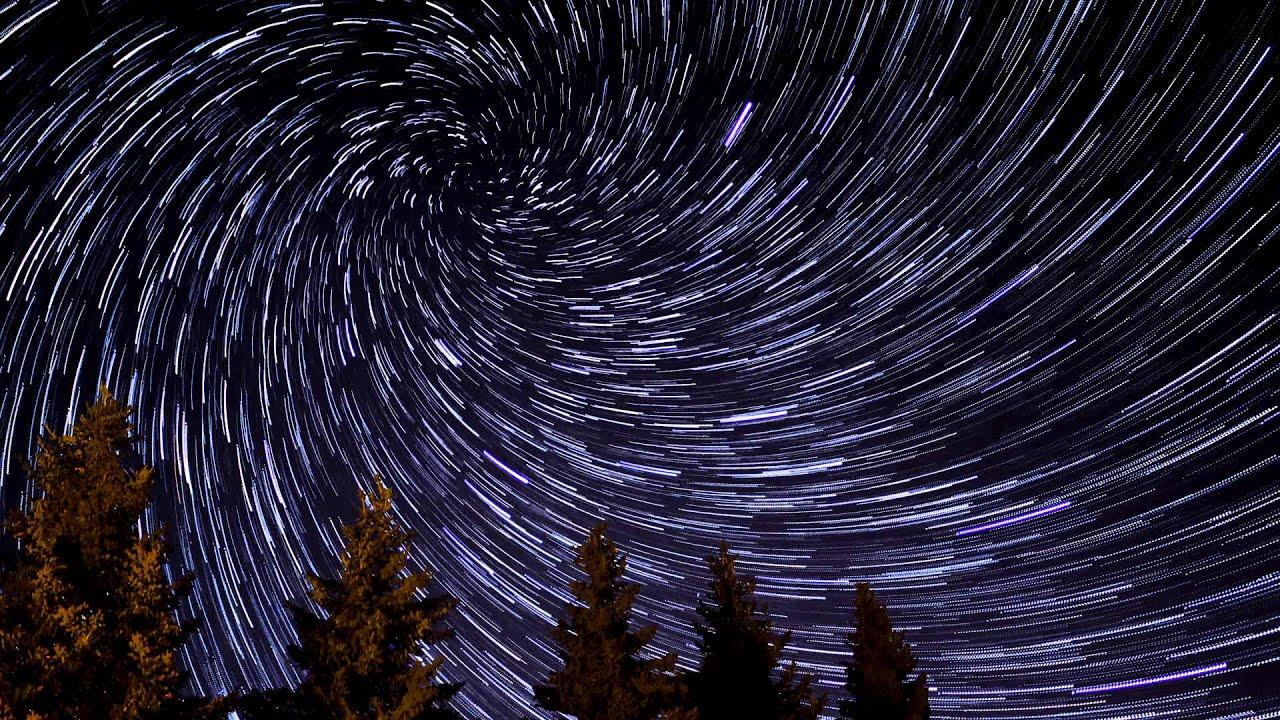 vortex spiral star trail timelapse in winnipeg manitoba