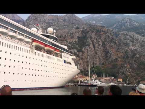 Cruise ship in Montenegro (Kotor)