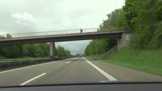 Autofahrt BASF SE Ludwigshafen A 65 - B10 bis Abfahrt Beckenhof Sued Deutschland