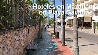 Hoteles en Mazatlán sobre Playa Gaviotas en la Zona Dorada