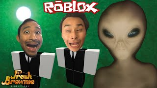 WE GOT RAIDED BY AREA 51 IN ROBLOX!!!   FRESH BROWNIE