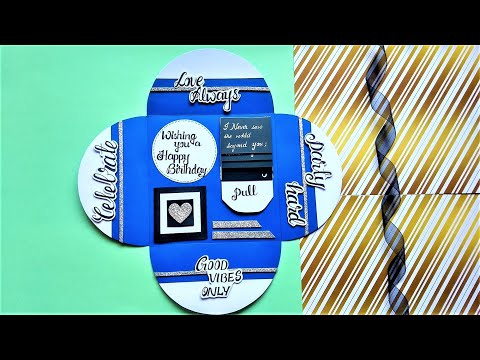 How to make Special Birthday card | Handmade Birthday Card Idea | Tutorial