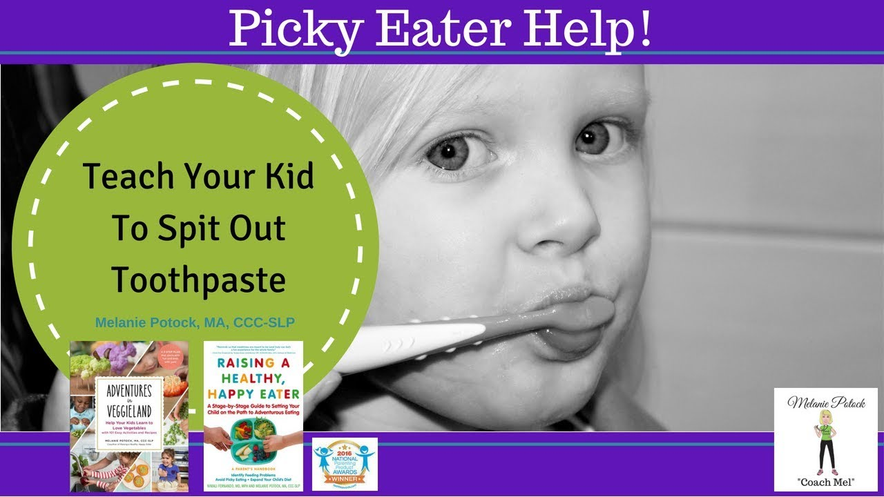Teach Kids to Spit When Brushing Their Teeth - YouTube