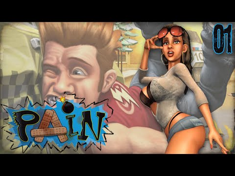 "PAIN Gameplay Part 1 - ""Boobs, Butts, & BOMBS!!!"" Funny Destruction Game (PS3)"