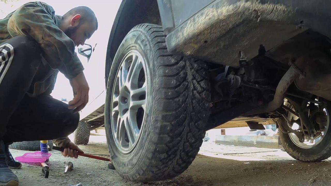 Замена задних пружин на Subaru XV/ Changing the rear coils on Subaru Crosstrek