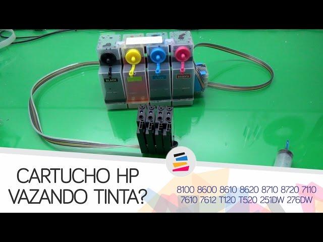 Vazamento de Tinta nos Cartuchos HP com Bolsa de Ar (Bulk Ink) - SULINK