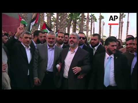 Hamas leader Khaled Mashaal leaves Gaza after historic first visit