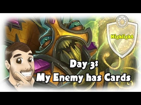 [Hearthstone] F2P Challenge Day 3 My Enemy Has Cards!