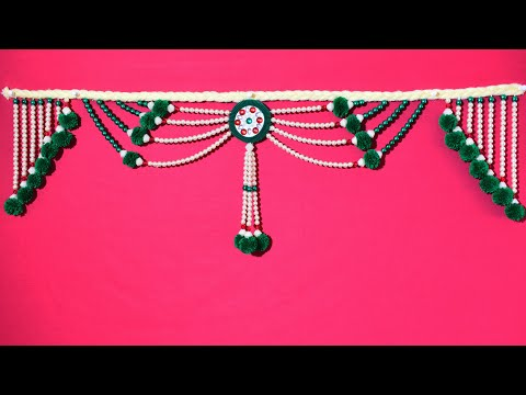Diwali special II Amazing Pearl Toran Making || DIY Door Hanging at Home ||  easy room decor idea.