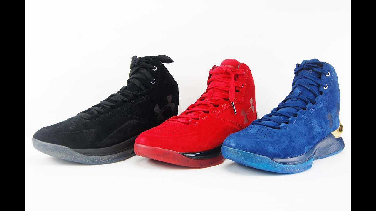 4ef8f4075 Under Armour Curry Lux Suede in Red, Blue and Black Review - YouTube