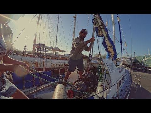 Filling holes in Fibreglass and Rigging for Lifting - Free Range Sailing Ep 68