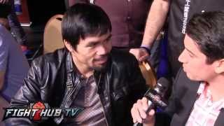 "Manny Pacquiao ""Mayweather posters all over MGM embarassing to Top Rank"""