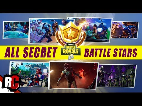 All 7 Secret Battle Star Locations Fortnite All Blockbluster