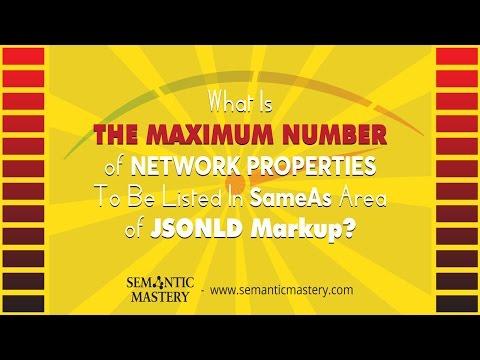Number Of Network Properties for SameAs Area Of JSONLD Markup