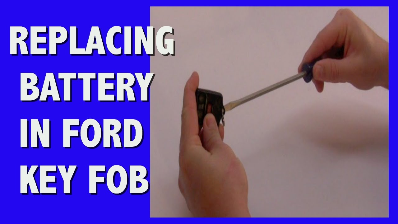 How To Replace Battery In Ford Key Fob Youtube