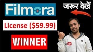 Here is the Winner of Filmora Lifetime License worth $59.99 - Congratulations dear
