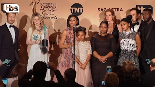 The press have Q&A with the cast of Hidden Figures after their big win. SUBSCRIBE: http://bit.ly/SubscribeTBS Watch More: http://bit.ly/23rdAnnualSAGAwards   23rd Annual SAG Awards: https://www.youtube.com/playlist?list=PLJBo3iyb1U0dW49vF2VViVmcr8CmhusNR   23rd Annual SAG Awards Acceptance Speeches: https://www.youtube.com/playlist?list=PLJBo3iyb1U0e4nUKxwADCQSaDfVO54TnS   23rd Annual SAG Awards Red Carpet: https://www.youtube.com/playlist?list=PLJBo3iyb1U0d5iOMUVKKS2g0jqWsae_Wa   23rd Annual SAG Awards Press Room: https://www.youtube.com/playlist?list=PLJBo3iyb1U0dbGyFd0AhQvlhdTaVhwBM8   About the 23rd Annual SAG Awards: The Screen Actors Guild Awards® presented by SAG-AFTRA has become one of the industry's most prized honors. The only televised awards show to exclusively honor performers; it presents thirteen awards for acting in film and television in a fast moving two-hour show, which airs live on TNT and TBS. The awards focus on both individual performances as well as on the work of the entire ensemble of a drama series and comedy series, and the cast of a motion picture.   About TBS:   The home of Angie Tribeca, Full Frontal with Samantha Bee, Conan and American Dad.   Connect with TBS Online:   Full Episodes: http://www.TBS.com/shows/   YouTube: http://www.YouTube.com/TBS   Twitter: https://Twitter.com/TBSNetwork Facebook: http://Facebook.com/TBSNetwork   Instagram: https://Instagram.com/TBSNetwork    Hidden Figures: Press Room Q&A | 23rd Annual SAG Awards | TBS http://www.YouTube.com/user/TBS