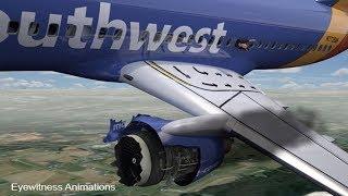Explosion d'un moteur en plein vol