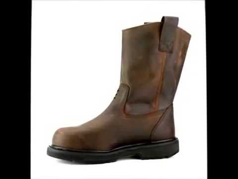 Mens Timberland 33004 Steel Toe Wellington Work Boot - YouTube