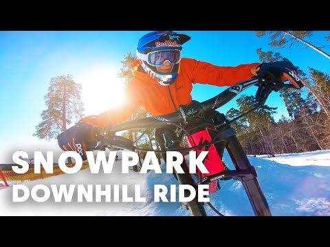 MTB IN A SNOWPARK: Take a fun downhill ride /wMartin Söderström.