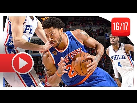3b4a375e78b Derrick Rose Full Highlights vs Sixers (2017.01.11) - 25 Pts