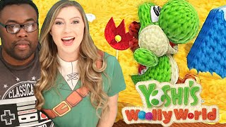 YOSHI WOOLLY WORLD GAMEPLAY - Teamwork FAIL!