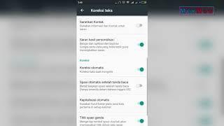 Cara Menonaktifkan Auto Correction di Google Keyboard Android (Mematikan Koreksi Otomatis)